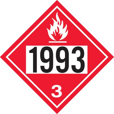 1993 Flammable Liquid N.O.S., Fuel Oil - DOT Placards