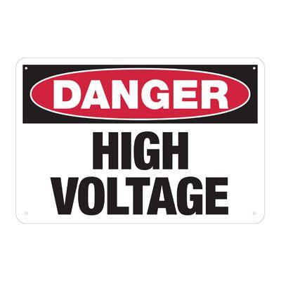 Danger High Voltage - Electrical Safety Signs & Labels