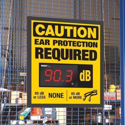 Decibel Meter Sign Kit - Ear Protection Required (Earplugs)
