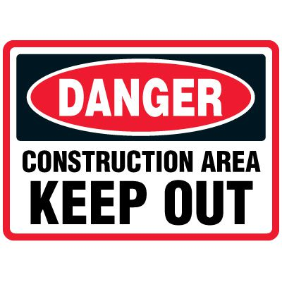 Construction Area Traffic Cone Signs