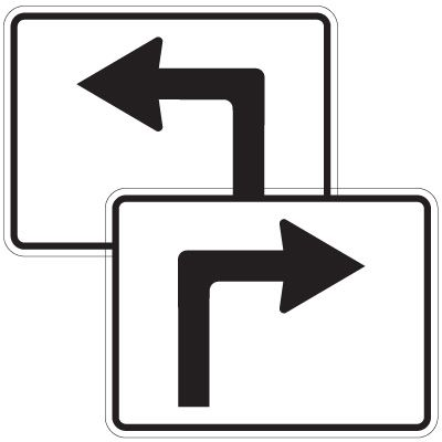Directional Arrow Traffic Signs - Turn Arrows