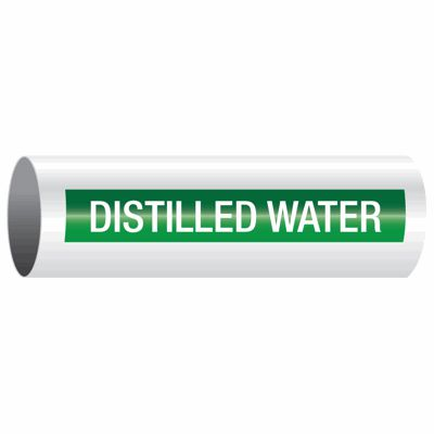 Distilled Water - Opti-Code™ Self-Adhesive Pipe Markers