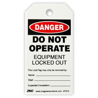 Do Not Operate - Zing® Eco Safety Tag