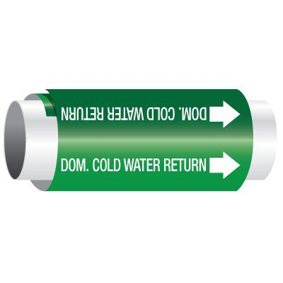 Dom. Cold Water Return - Setmark Pipe Markers