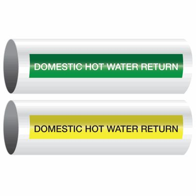 Domestic Hot Water Return - Opti-Code™ Self-Adhesive Pipe Markers