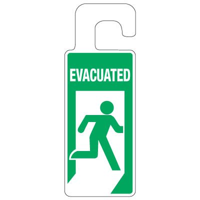 Door Knob Hangers - Evacuated (Running Man Symbol)