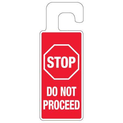 Door Knob Hangers - Stop Do Not Proceed