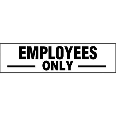 Employees Only Door Labels