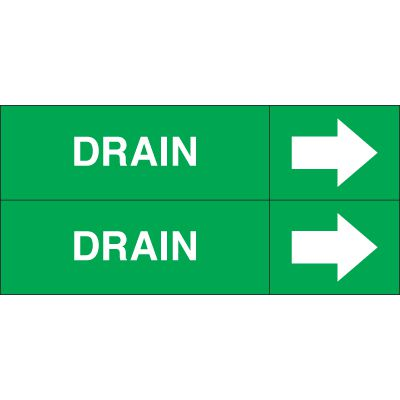 Drain - Weather-Code™ Self-Adhesive Outdoor Pipe Markers