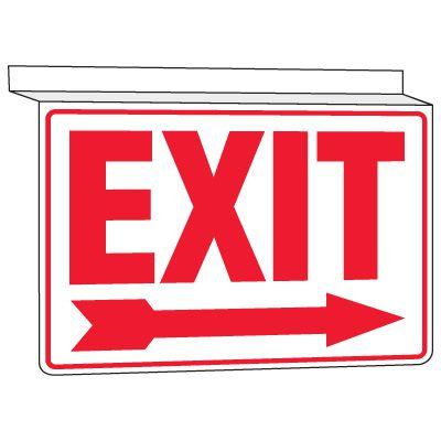 Drop Ceiling Exit Sign
