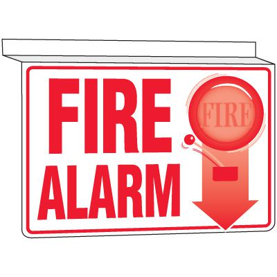 Drop Ceiling Fire Alarm Sign