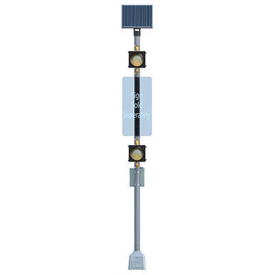 Vertical Dual BlinkerBeacon™ Solar Amber LED Flashing Beacons