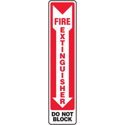 Eco-Friendly Signs - Fire Extinguisher Do Not Block