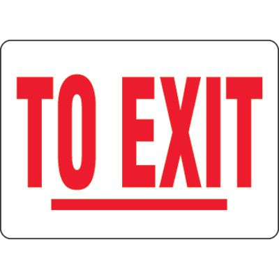 Eco-Friendly Signs - To Exit