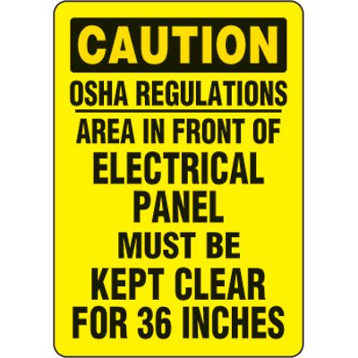 Eco-Friendly Signs - Caution OSHA Regulations Area