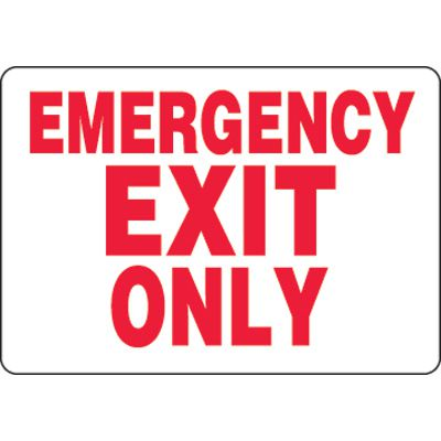 Eco-Friendly Signs - Emergency Exit Only