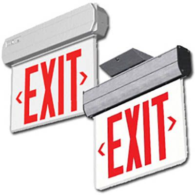 Edge Lit Exit Signs