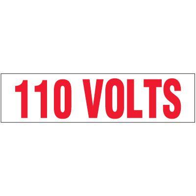 Voltage Warning Labels - 110 Volts