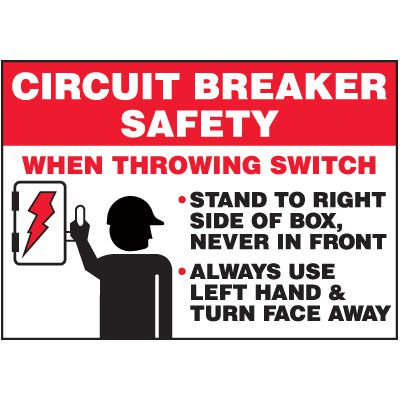 Circuit Breaker Safety - Voltage Warning Labels