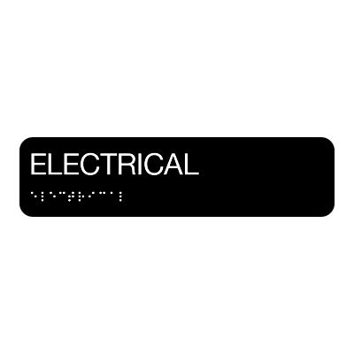 Electrical - Standard Worded Braille Signs