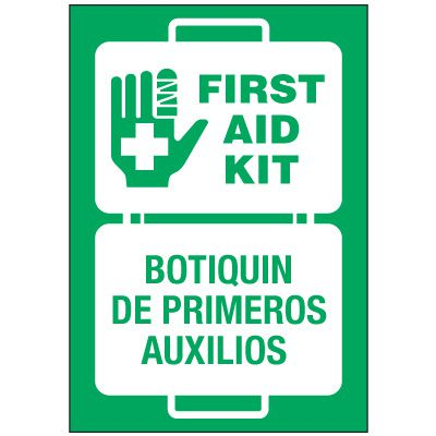 Bilingual First Aid Label