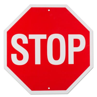 STOP - Official Format Traffic Control Signs to meet USDOT Requirements