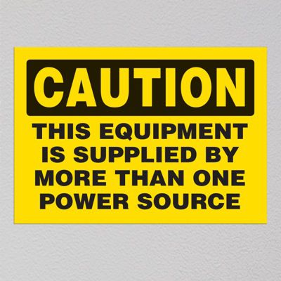 Voltage Warning Labels Caution This Equipment Is