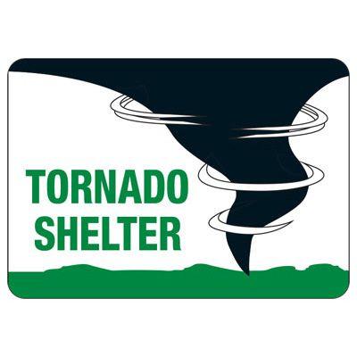 Tornado Shelter Safety Sign