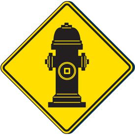 Outdoor Fire Hydrant Graphic Sign