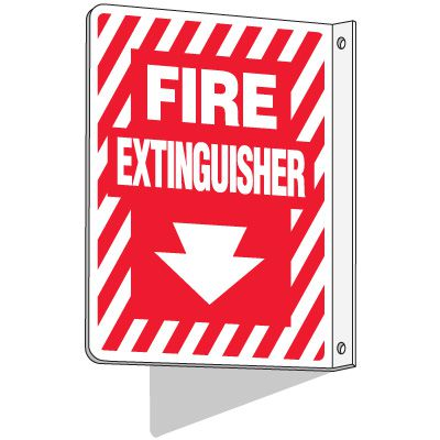 Standard 2-Way Fire Extinguisher Signs
