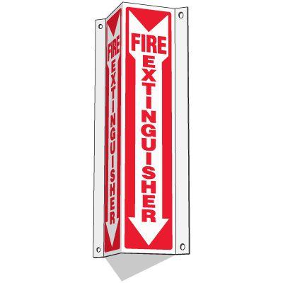 Slim-Line 3-Way Fire Extinguisher Signs