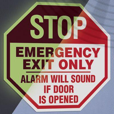 Emergency Exit Sign and Door Alarm