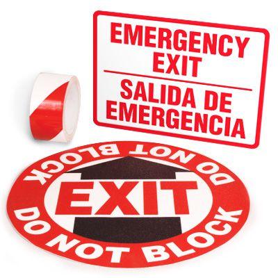 Exit Identification Kits - Emergency Exit (Bilingual)
