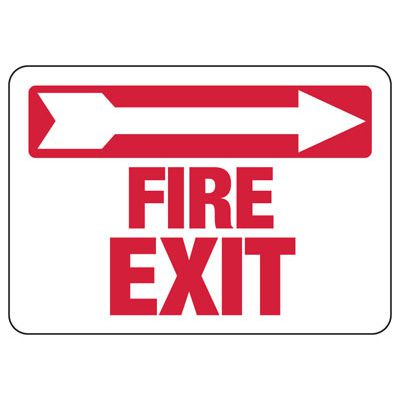 Fire Exit (Right Arrow) Sign
