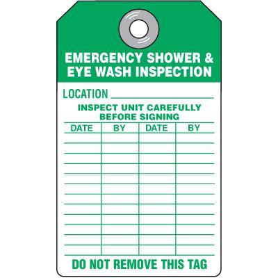 Emergency Shower & Eyewash Location Tag