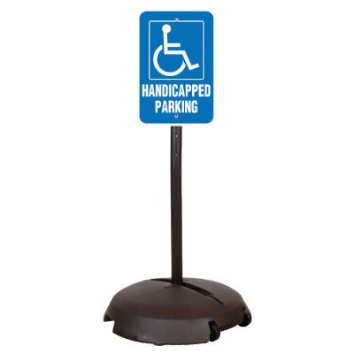 EZ-Roll Sign Stanchion Systems - Non-Reflective Handicapped Parking Sign