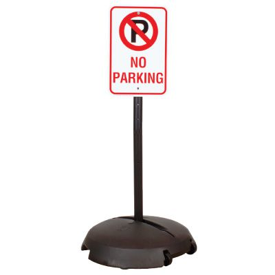 EZ-Roll Sign Stanchion Systems - Non-Reflective No Parking Sign
