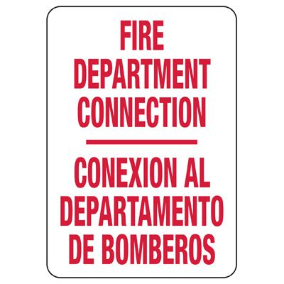 Bilingual Fire Department Safety Sign