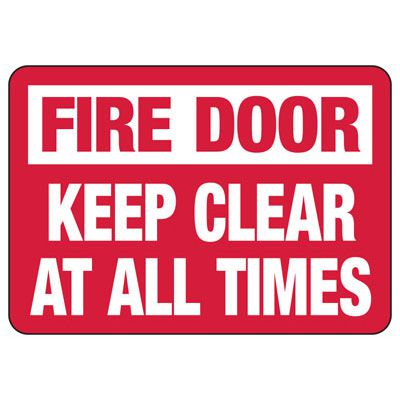 Fire Door Keep Clear Safety Sign