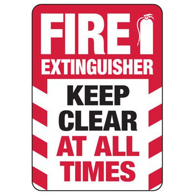 Fire Extinguisher Keep Clear Safety Sign