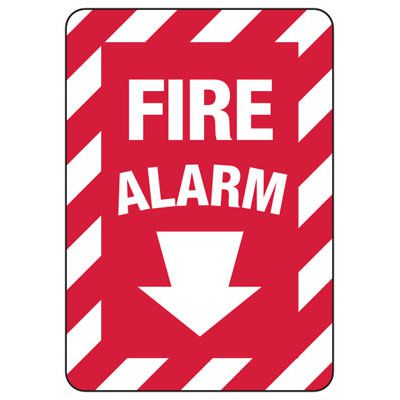 Fire Alarm (Down Arrow) - Fire Equipment Signs