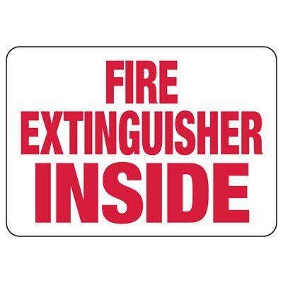 Fire Extinguisher Inside Safety Sign