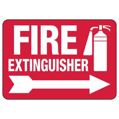 Fire Extinguisher (Right Arrow) - Fire Equipment Signs