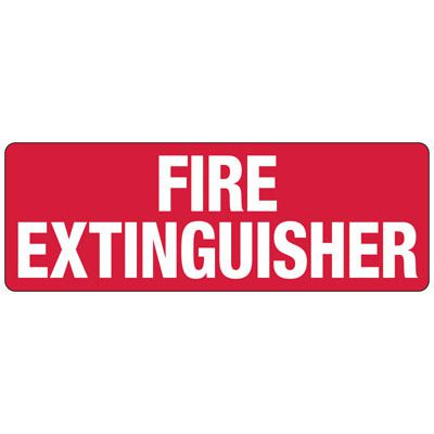 Fire Extinguisher - Fire Equipment Signs