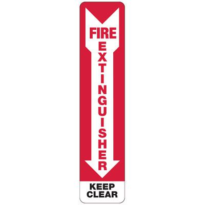 Slim-Line Fire Extinguisher Keep Clear Signs
