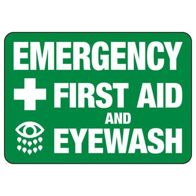 First Aid And Eyewash Sign