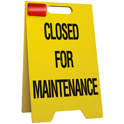 Closed For Maintenance Floor Stand