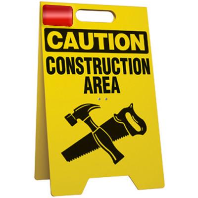 Caution Construction Area Floor Stand