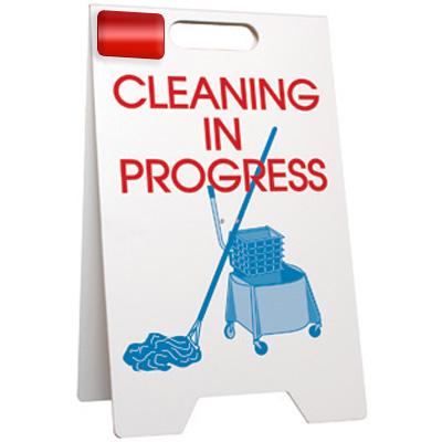 Cleaning In Progress Floor Stand