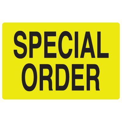 Fluorescent Warehouse & Pallet Labels - Special Order